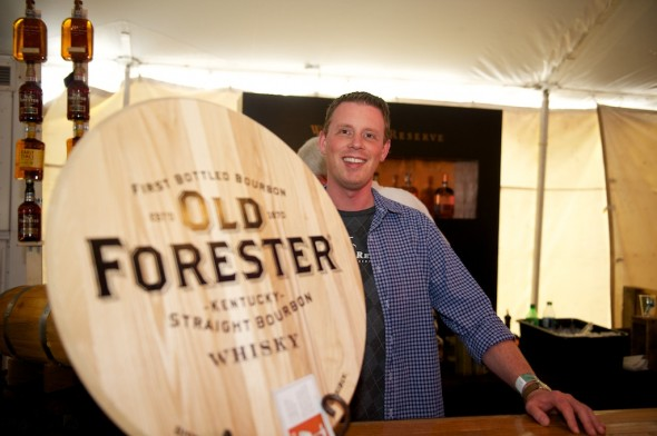 Brown-Forman's Tim Knittel is a mainstay in cool places like the Forecastle's Bourbon Lounge.